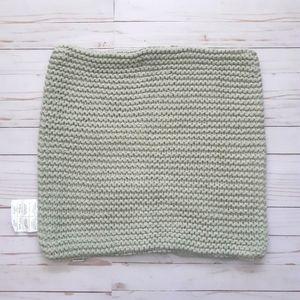 BOUCLAIR Medium Knit Tea Green Pillow Case